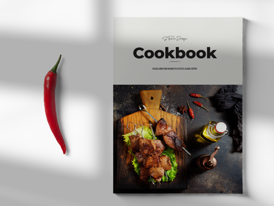 Kitchen Cookbook Brochure recipe book cookbook cookbook template