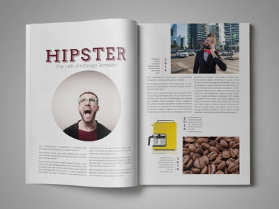 Free Magazine Template for InDesign