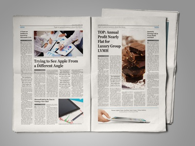 Free Newspaper Template for InDesign