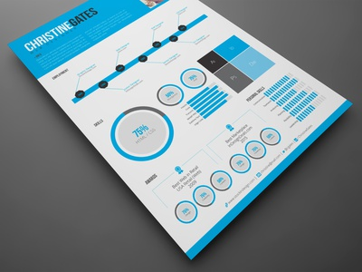 Modern Infographic Resume indesign template resume templates resume template resume design resume cv