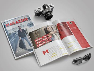 Fashion Magazine Template indesign magazine template magazine design magazine cover indesign template