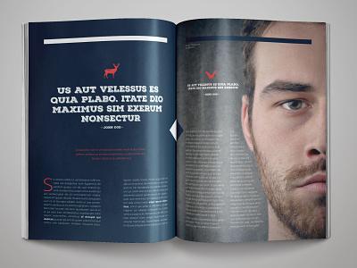 Rustic Magazine Template indesign magazine template magazine design adobe indesign indesign template