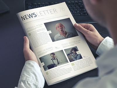 Modern Business Newsletter adobe indesign indesign template newsletter template newsletter design newsletter