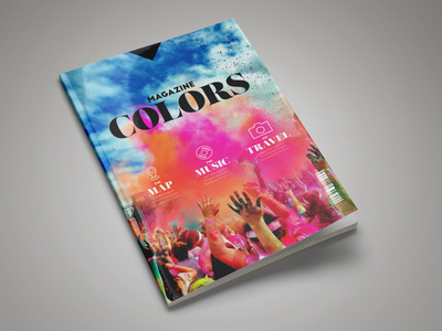 Colors Magazine Template indesign indesign magazine template indesign template magazine template magazine design magazine cover