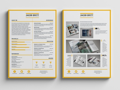Resume Template indesign template adobe indesign resume template resume design resume clean resume cv