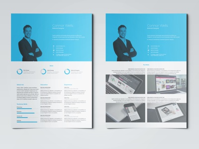 Professional Resume Template adobe indesign indesign template resume design resume template