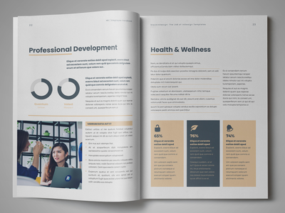 HR / Employee Handbook Template editorial design indesign template adobe indesign employee handbook employee handbook template