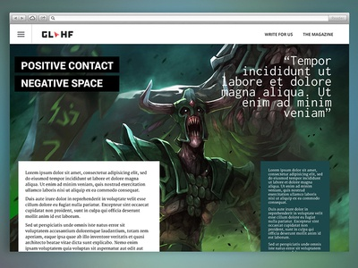 GLHF Responsive Magazine Experience
