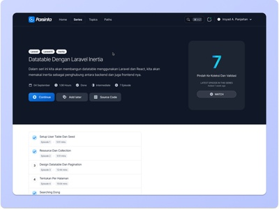 Parsinta Preview Series E2.1 ux ui web design design parsinta