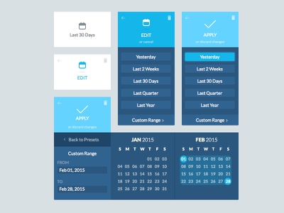 Date Dropdown States dropdown ui interface calendar date selector