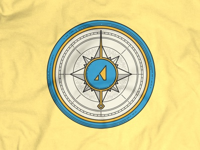 Appcues T-Shirt compass illustration shirt tshirt vector tee apparel
