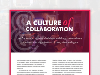 A Culture of Collaboration typography collaboration culture proposal print