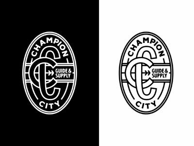 CCGS lockup exploration logo branding design vintage typography monogram typography badgelogo badge