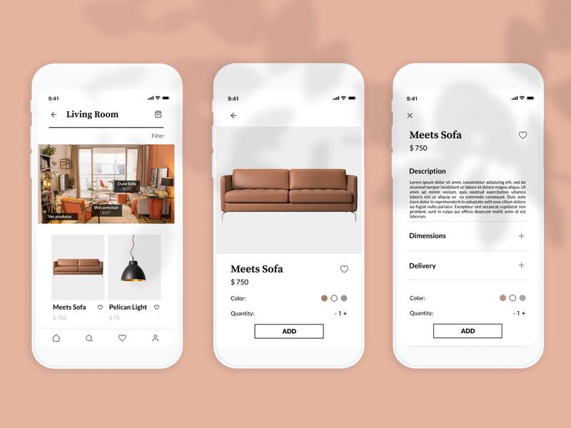 E-commerce UI uxui design shop store decaration figma ui design mobile e-commerce app e-commerce ui