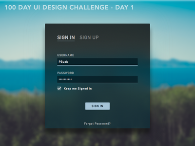 DailyUI001- Sign In Dialog daily ui sign in dark ui ui challenge dark phldesign ui