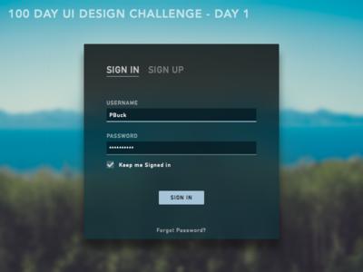 DailyUI001- Sign In Dialog daily ui sign in dark ui ui challenge dark phldesign ui