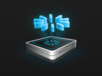 Drib Update Hologram hologram icon update 3d realistic photoshop