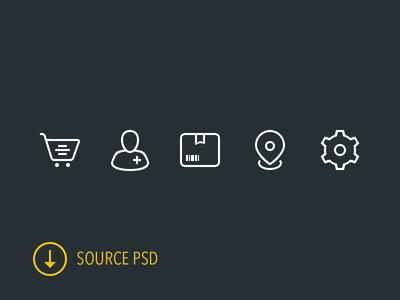 Icon Set PSD freebie icons