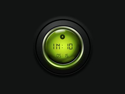 Button matt metal circle glass button