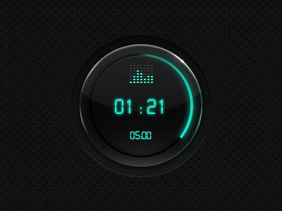 Radial Timer timer glow radial circle