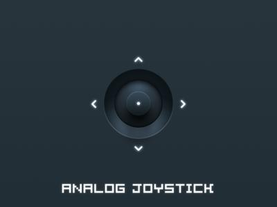 Analog Joystick 2x analog joystick modern arrow led rotate blue