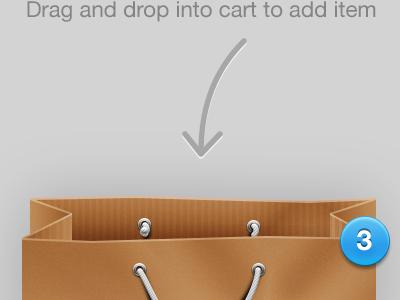 Shopping Bag graphics cart shopping metal ring rope paper bag