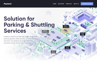 Home Page Design hero parking lot parking fleet airport building car illustraion isometric illustration isometric