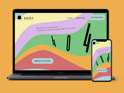 404 Page design graphic curves awkward 404 bold colours design
