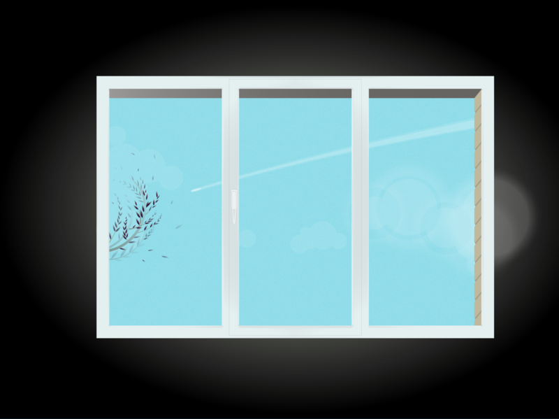 Windowview polina-pd vector illustration