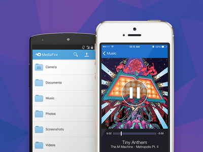 MediaFire releases new native apps for iOS and Android mediafire app cloud ios android ui interface screenshot