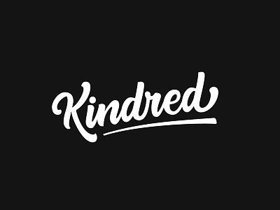 Kindred customtype typography branding logo lettering