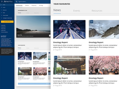 Dashboard dashboard clean flat material reading read news ux ui tabs cards