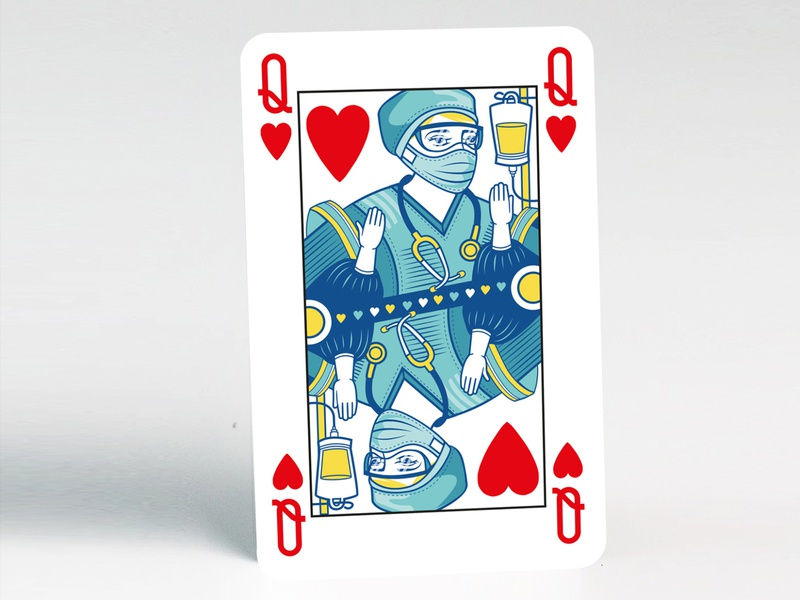 COVID-19 Playing Card Design from Squiddle Ink packaging illustration playing cards playingcards product design graphic design