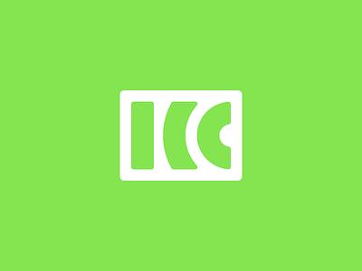 King City Wireless Logo lines green wireless design logo
