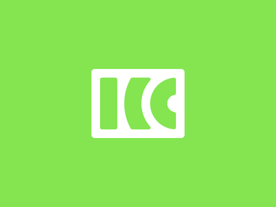 King City Wireless Logo lines green wireless design logo