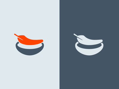 Lightweight Nestable Grid Logo orange blue grid nest feather design logo