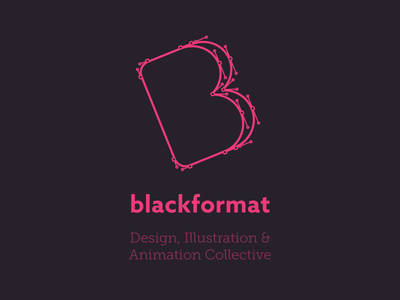 Blackformat Shirt Design museo slab azo sans shirt design black pink vector illustrator path logo blackformat