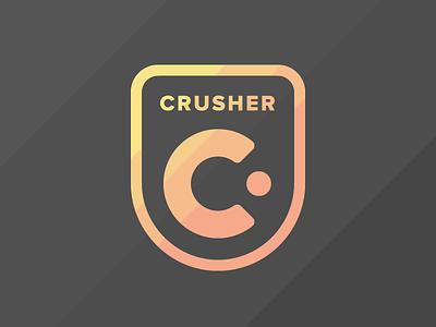 Crusher Logo proxima nova bearing skateboard c line yellow black design logo crusher