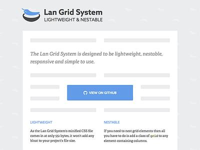 Lan Grid System resource css design tool site blue grid web design website adelle azo sans