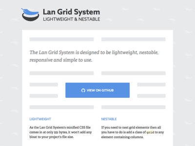 Lan Grid System resource css design tool site blue grid web design website adelle azo sans