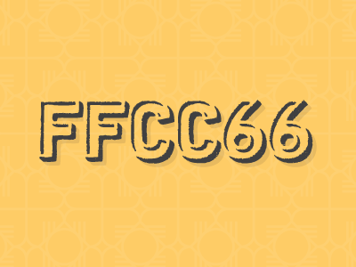 My Favourite Colour yellow colour color hex cubano pattern typography