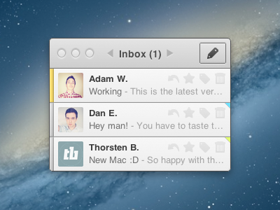Css mini mail app