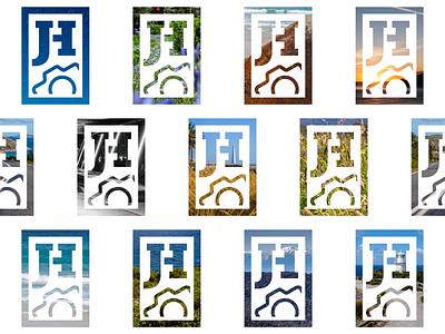 Photography Logo Grid grid design photograph clip camera landscape pattern grid jh monogram logo photo