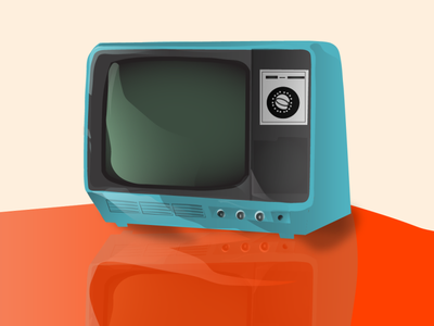 Television drawing vector illustration