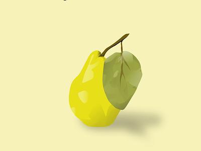 pear digital vector illustration design