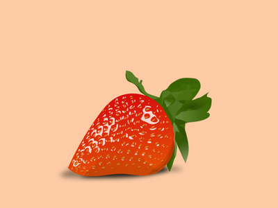 strawberry digital vector illustration design