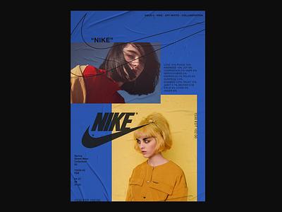 Nike / Off-White off-white offwhite nike paper a4 wrinkle modern minimal fashion design oldschool vintage hypebeast branding fashion brand layout poster fashion
