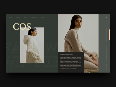 COS Stores modern layout minimal ux ui interaction design editorial layout fashion design user interface ui user interface cos fashion
