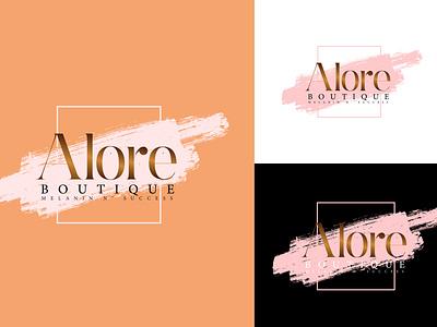 typographic feminine boutique logo design feminine logo boutique logo typographic boutique logo minimal logo modern logo clothing logo luxury logo typographic logo logodesign fashion logo logo design minimalist logo logo