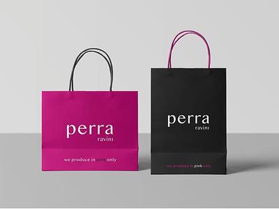 Perra Ravini Bags luxurious clothing brand corporateidentity sales marketing branding graphicdesign ravini perra